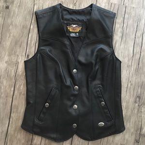 Harley Davidson Woman's Leather Vest NWOT